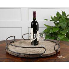Uttermost Acela Round Wine Tray