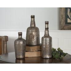 Uttermost Lamaison Mercury Glass Bottles S/3