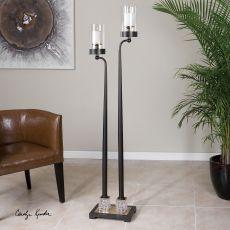 Uttermost Rondure Dark Bronze Floor Candleholder