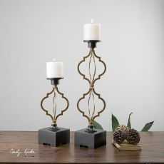 Uttermost Gilberto Moroccan Candleholders S/2
