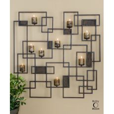 Uttermost Siam Metal Candlelight Wall Sculpture