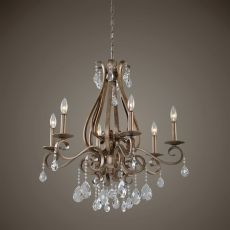 Uttermost Siobhan 6 Light Crystal Chandelier