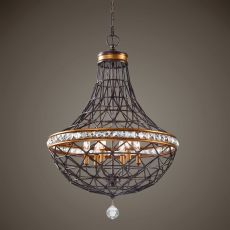 Uttermost Cestino 6 Light Geometric Pendant