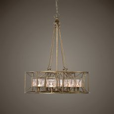 Ghiaccio 8 Light Swedish Iron Pendant