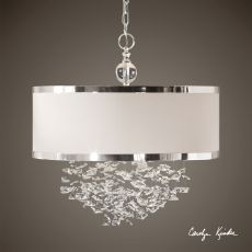 Uttermost Fascination 3 Light Silken Drum Pendant