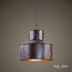 Uttermost Giaveno 1 Light Oxidized Bronze Pendant