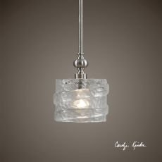 Uttermost Mossa 1 Light Seeded Glass Mini Pendant