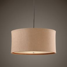 Uttermost Alamo 3 Light Burlap Drum Pendant