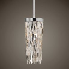 Uttermost Millie 1 Light Chrome Mini Pendant
