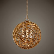 Uttermost Sphera 3 Light Gold Pendant