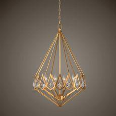 Uttermost Eclatant 4 Light Gold Diamond Pendant