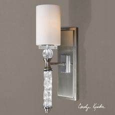 Uttermost Campania 1 Light Carved Glass Sconce