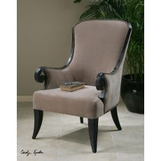Uttermost Kandy Taupe Armchair
