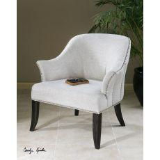 Uttermost Leisa White Armchair