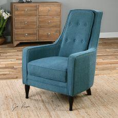 Uttermost Katana Peacock Blue Armchair