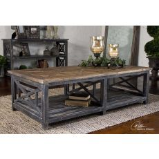 Uttermost Spiro Reclaimed Wood Cocktail Table