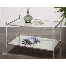 Uttermost Gannon Mirrored Glass Coffee Table