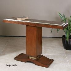 Uttermost Taniel Pedestal Console Table