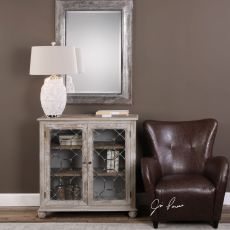 Uttermost Earline Antique White Accent Cabinet