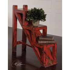 Uttermost Asher Red Stepped Accent Table