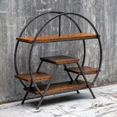 Uttermost Ayoka Forged Iron Etagere