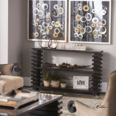 Uttermost Petris Stacked Leg Console Table