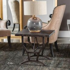 Calloway Iron Accent Table