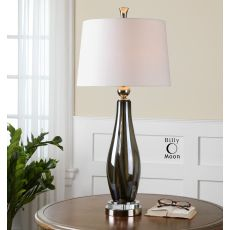 Uttermost Belinus Gray Glass Table Lamp