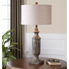 Uttermost Agliano Aged Dark Pecan Lamp