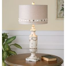 Uttermost Lacedonia Distressed Ivory Lamp