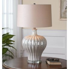 Uttermost Capolona Pearl Glaze Lamp