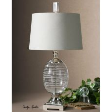 Uttermost Pateros Swirl Glass Lamp