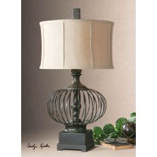 Uttermost Lipioni Rustic Black Lamp