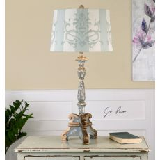 Uttermost Trimonte Aged Gray Table Lamp