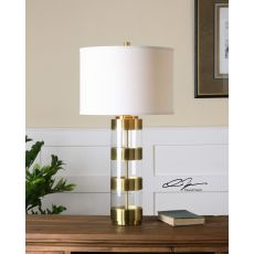 Uttermost Angora Brushed Brass Table Lamp