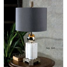 Uttermost Dantoni White Alabaster Table Lamp