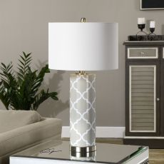 Uttermost Anzano Gray Glass Lamp