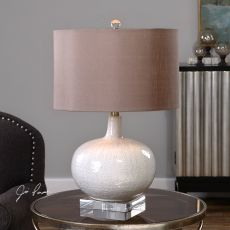Uttermost Parvati White Glaze Table Lamp