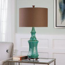 Uttermost Timavo Teal Ceramic Lamp