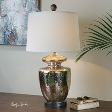 Uttermost Ailette Antiqued Mercury Glass Lamp