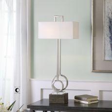 Uttermost Deshka Brushed Nickel Table Lamp
