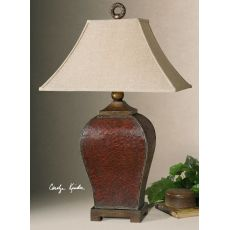 Uttermost Patala Crackled Red Table Lamp