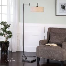 Uttermost Lamine Dark Bronze Floor Lamp