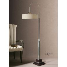 Uttermost Amerigo Brushed Aluminum Floor Lamp
