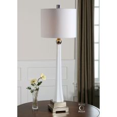 Uttermost Boretto White Glass Lamp