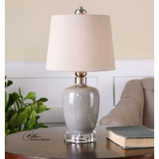 Uttermost Ovidius Mini Crackle Gray Table Lamp