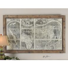 Uttermost Treasure Map Framed Art