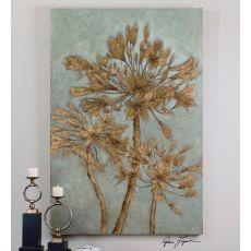 Uttermost Golden Leaves Wall Art