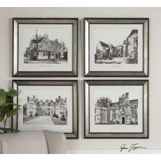 Uttermost English Cottage Wall Art Set/4