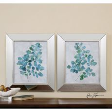 Uttermost Spring Leaves Framed Art, S/2
